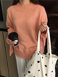 знак кореи ретро шик серия манжеты лук круглого свитера шеи хеджирования теплого свитера