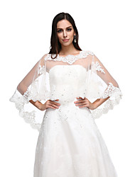 Women's Wrap Capes Lace Tulle Wedding Party/Evening Lace