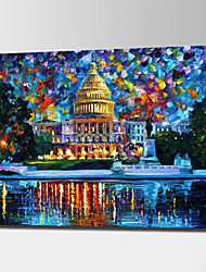 The White House Oil Paintings Hand Painted Modern Abstract Landscape Canvas Painting Unframed Acrylic Knife Paintings Wall Art With Frame