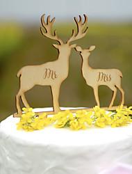 Décorations de Gâteaux Non personnalisée Couple classique Cœur Acrylique Plastique dur Papier durci Mariage Commémoration Fête prénuptiale