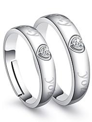 Ringe Hochzeit Party Besondere Anlässe Alltag Normal Schmuck Kupfer Ring 2 Stück,Eine Größe Weiß