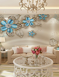 Art Deco Wallpaper For Home Wall Covering Canvas Adhesive Required Mural Sapphire White Aesthetic Background XXXL(448*280cm)