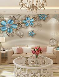Ар деко 3D Обои Для дома Современный Облицовка стен , Холст материал Клей требуется фреска , Обои для дома