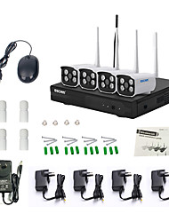 escam® wnk403 plug and play NVR kit p2p 720p HD wireless outdoor de visão noturna ip segurança do sistema de câmara WiFi IR