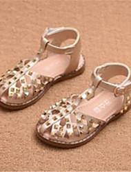 sandales confort similicuir décontracté en plein air rouge argent or course