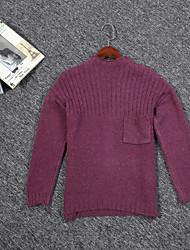 знак ~ свитер женский теплый хеджирования вокруг шеи с длинными рукавами футболки пассивом гарантии качества карман пятна ~