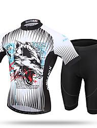 XINTOWN Camisa com Shorts para Ciclismo Homens Manga Curta Moto Calças Camisa/Roupas Para Esporte Shorts BlusasSecagem Rápida Resistente