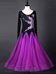Мы будем бальных танцев платья женщин платье органзы платье