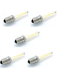 5pcs 2w 180-200lm e14 светодиодные лампы накаливания cob теплые / холодные белые старинные лампы ac12v