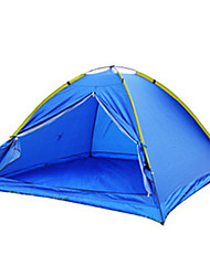 3-4 человека Световой тент Один экземляр Семейные палатки Однокомнатная Палатка Полиэстер Водонепроницаемый-Пешеходный туризм Походы