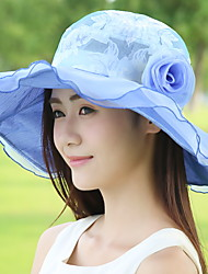 Summer Aanti-UV Sunscreen Lace Flower Sun Wide-brim Fashion Hat