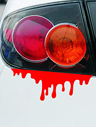 Car-Styling Drops of Blood Funny Car Stickers and Decals for Bmw e46 vw Skoda Polo Golf Renault Toyota Honda Ford Focus Fiesta