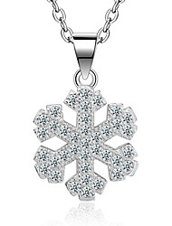 Necklace AAA Cubic Zirconia Pendant Necklaces Jewelry Wedding Party Special Occasion Engagement Snow Design