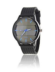 Sport Watch Fashion Watch Quartz Silicone Band Casual Black