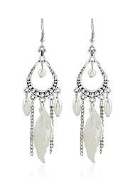 Imitation Pearl Stud Earrings Drop Earrings Earrings Jewelry Women Party Alloy Resin 1 pair Silver