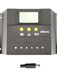 lcd 60a modo de carga solar panel de batería del controlador regulador cargador pwm 12 / 24v auto