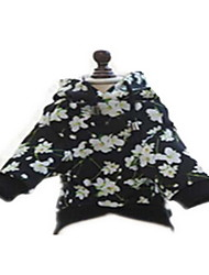 Dog Bandanas & Hats Dog Clothes Sports Flower Black/White