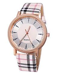 Women's Fashion Watch Quartz Wood Band White