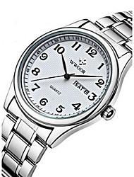 Men's Dress Watch Wrist watch Calendar Quartz Alloy Band Vintage Silver