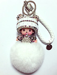 Dolls Key Chain Toys Leisure Hobby White Crystal