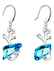Drop Earrings Crystal Crystal Fashion Dark Blue Candy Pink Jewelry Daily Casual 1 pair