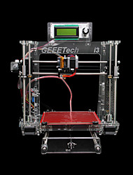 Geeetech i3b 3d impressora usb área de gravação 200 * 200 * 180mm abs pla transparente