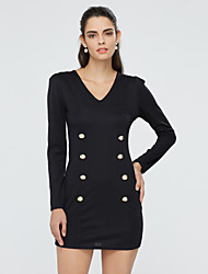 Women's Coats & Jackets , Tweed/Viscose Casual/Work Long Sleeve Fashion Queen