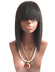 Real Wet Wavy Short Human Virgin Brazilian Hair Bleached Knots Pre Plucked Kinky Straight Yaki Silk Top Base Lace Front Human Hair Bob Wigs with Bangs