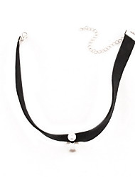 Choker Necklaces Imitation Pearl Pearl Imitation Pearl Fabric Jewelry Fashion Personalized Euramerican Black Jewelry Daily Casual 1pc