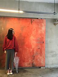 2017 Frühjahr neue koreanische Version des Retro-hohen Kragen und eine halbe Fledermaus Ärmel lose dünne feste Farbe Kaschmir-Pullover