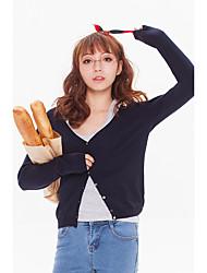 тонкий свитер женщин с длинными рукавами, V-образным вырезом джемпер свитер за пределами езды небольшой платок короткий толстый слой с