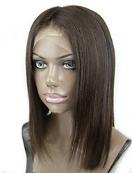 Glueless Full Lace Wig Bob Human Hair With Baby Hair Around