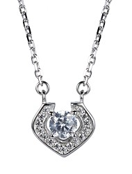 Necklace Cubic Zirconia Pendant Necklaces Jewelry Wedding Party Birthday Engagement Daily Casual Christmas GiftsCute Style