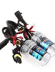 2 piezas de coche 55w h7 bombilla de la lámpara de luz de xenón faros 6000k