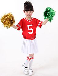Devemos vestidos de traje de cheerleader Crianças empilhando traje de dança de 3 peças