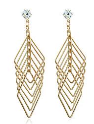 Diamond Stud Earrings Drop Earrings Jewelry Women Wedding Party Zircon Silver Plated Gold Plated 1 pair Gold Silver
