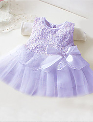 Girl's  Fashion Leisure Gauze Sleeveless Bowknot Dress
