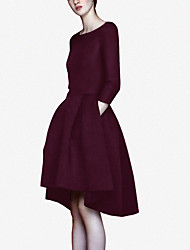 2017 explosion models spring new European and American high-end ladies temperament was thin dress long section of Hepburn Wind