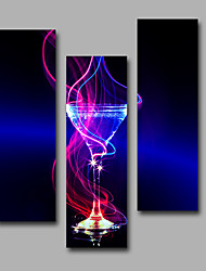 Abstract Fantasy Modern,Three Panels Canvas Vertical Print Wall Decor For Home Decoration