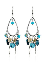 Crystal Imitation Pearl Dangle Earrings Jewelry Wedding Party Casual Alloy 1 pair Silver