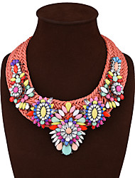 Necklace Statement Necklaces Jewelry Wedding Party Special Occasion Engagement Daily Casual Flower Tassels Alloy 1pc Gift Multi Color