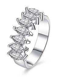 Ringe Besondere Anlässe Alltag Normal Schmuck Zirkon Kupfer versilbert Ring 1 Stück,6 7 8 9 Silber