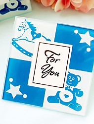 Blue Prince Photo Glass Coaster Beter Gifts® Life Style  9 x 9 x 0.5 cm/pcs 2pcs/box