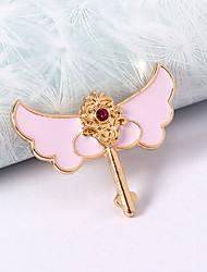 Ring Strass Imitation Diamant Aleación Herzform Flügel Pink-violett Schmuck Alltag Normal 1 Stück