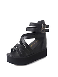 Sandals Spring Summer Fall Comfort PU Dress Casual Flat Heel Multi-color