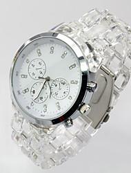 Fashion Watch Quartz Alloy Band Casual White