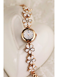 Women's Bracelet Watch Quartz Rose Gold Plated Alloy Band Gold