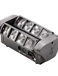u'king® novo mini aranha 60w 8 * 3w 4 em 1 RGBW lâmpada led cree 7 / 13CH movendo modos fase cabeça efeito da luz DMX de controlo de