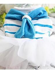 Chien Robe Bleu Incanardin Vêtements pour Chien Printemps/Automne Couleur Pleine Mignon cow-boy Décontracté / Quotidien