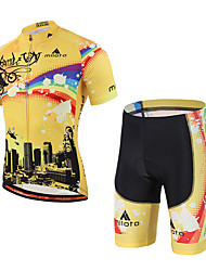 Cycling Jersey with Shorts Unisex Short Sleeve Bike3D Pad Reflective Strips Reduces Chafing Sweat-wicking Lightweight Materials